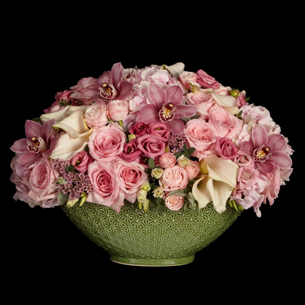 Sloane Low Table Arrangement in Pink by Neill Strain Floral Couture