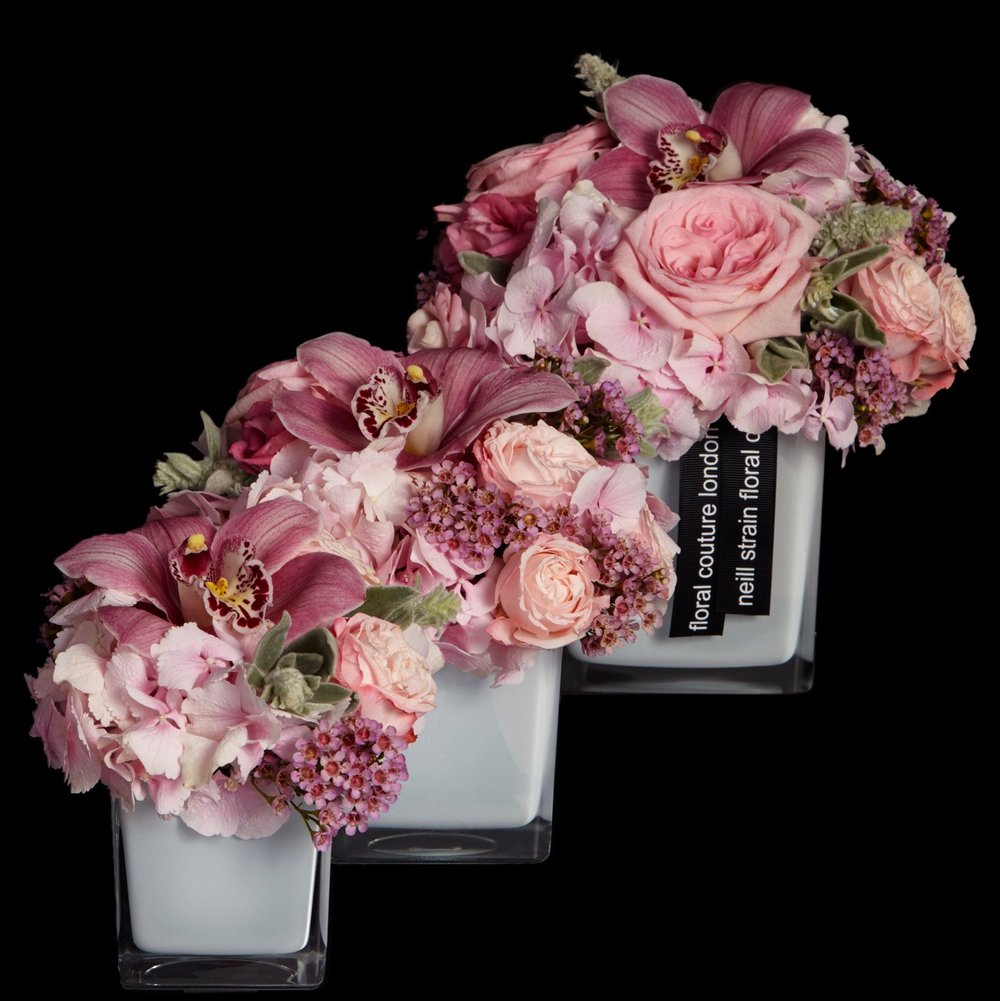 Sloane Petite Couture Arrangement in pink by Neill Strain Floral Couture