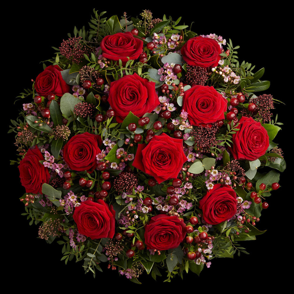 London Luxury Red Roses by Neill Strain Floral Couture
