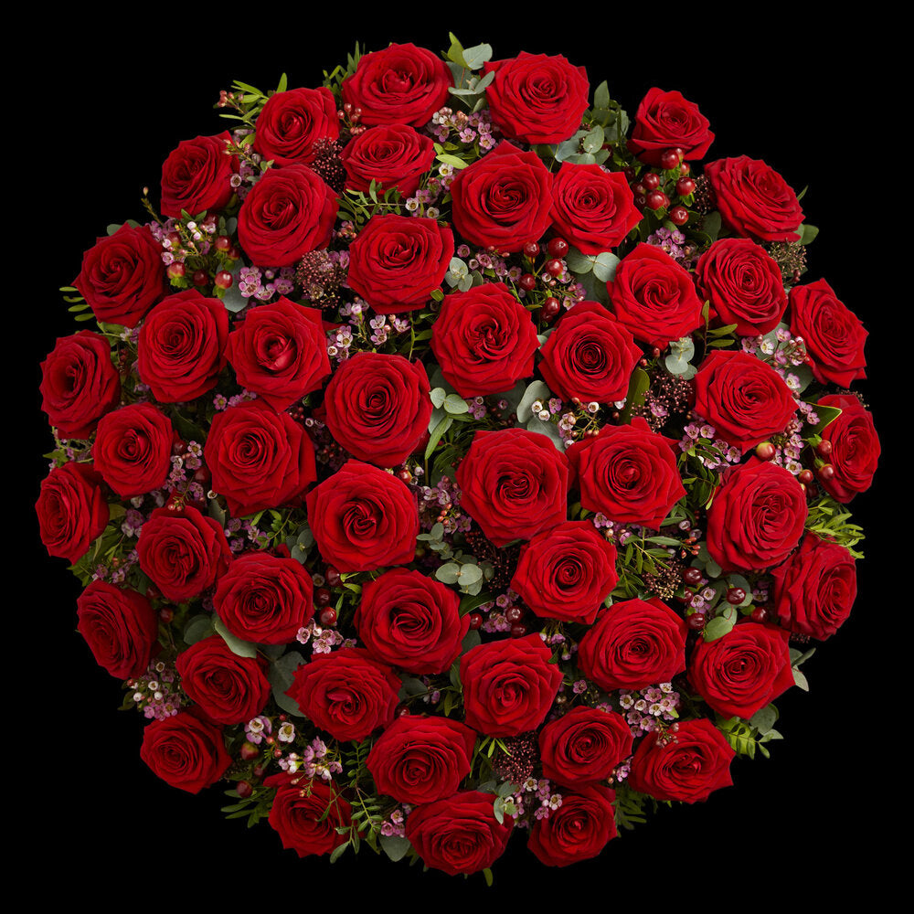 Super Deluxe Luxury Red Roses for Valentine's by Neill Strain Floral Couture