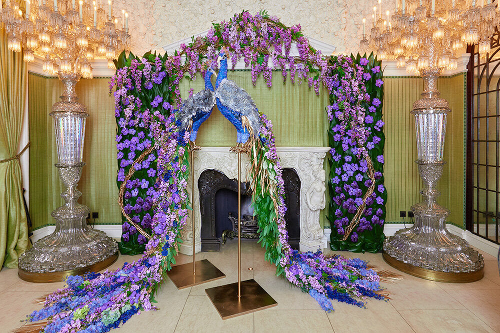 Luxury floral installations created for Annabel's by Neill Strain Floral Couture