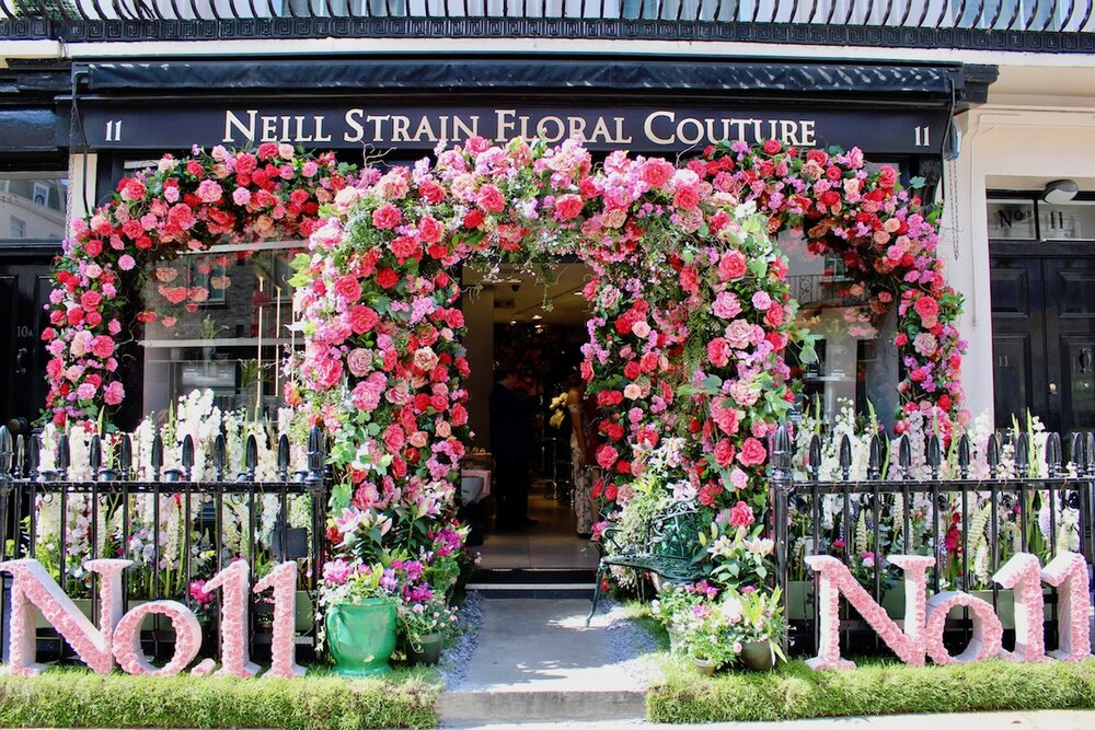 """Neill Strain Floral Couture Belgravia In Bloom Display """"The Language of Flowers"""""""