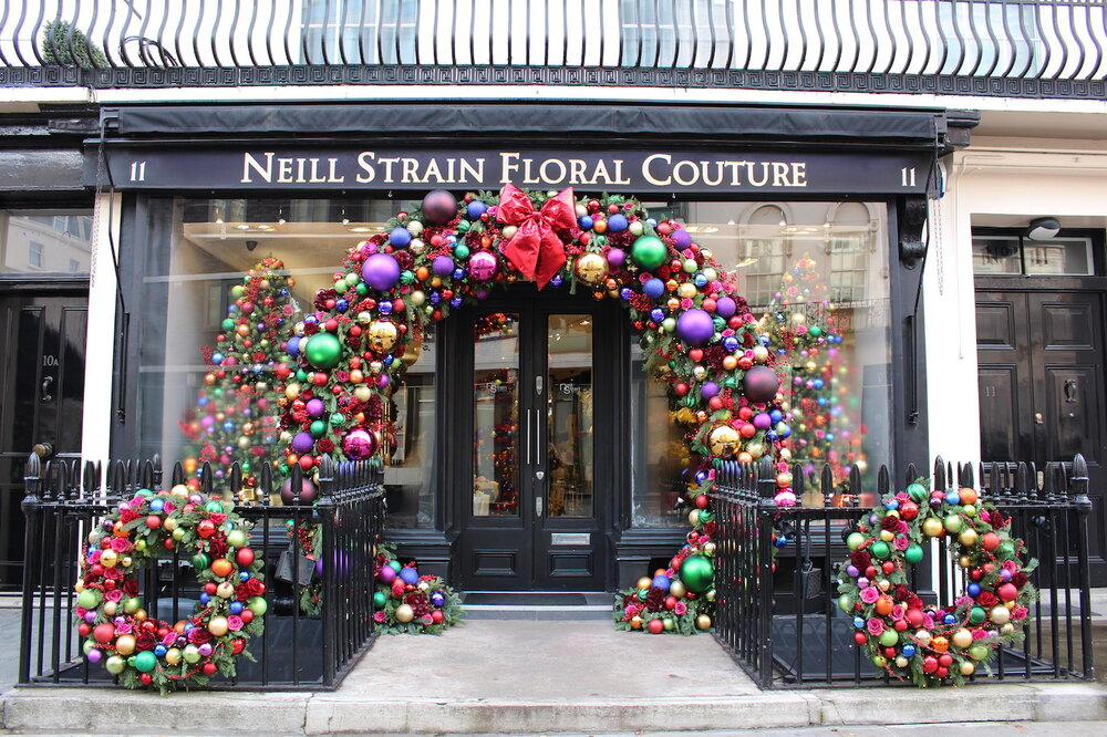 Christmas 2019 at Neill Strain Floral Couture Belgravia London