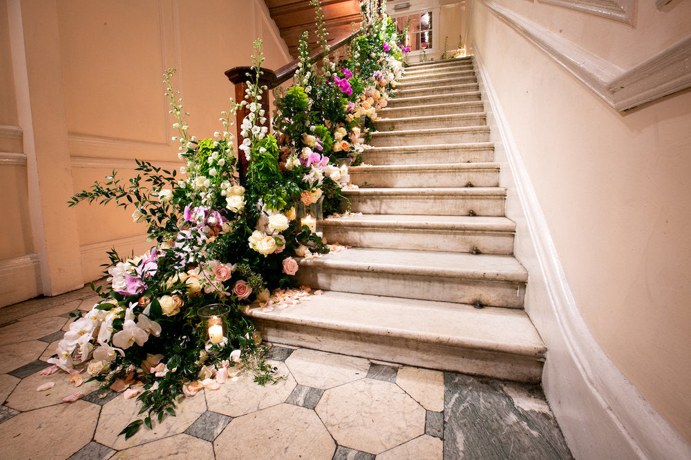 Staircase design by Neill Strain Floral Couture