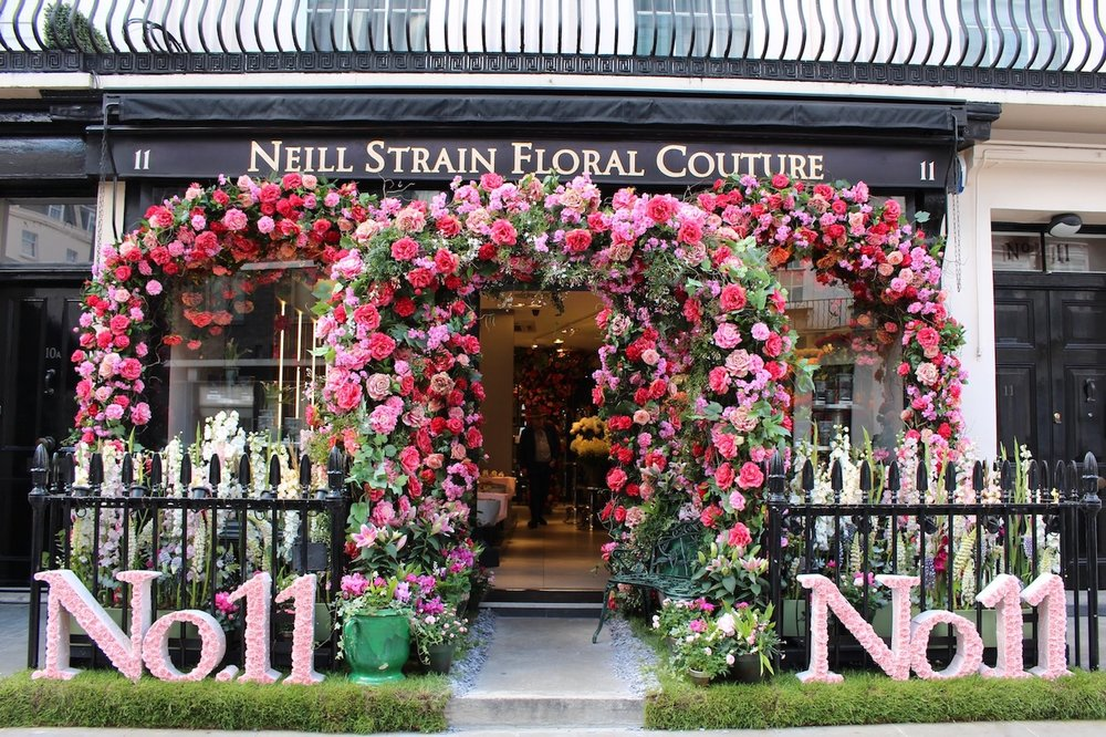 Neill Strain Floral Couture dressed for Belgravia In Bloom 2019