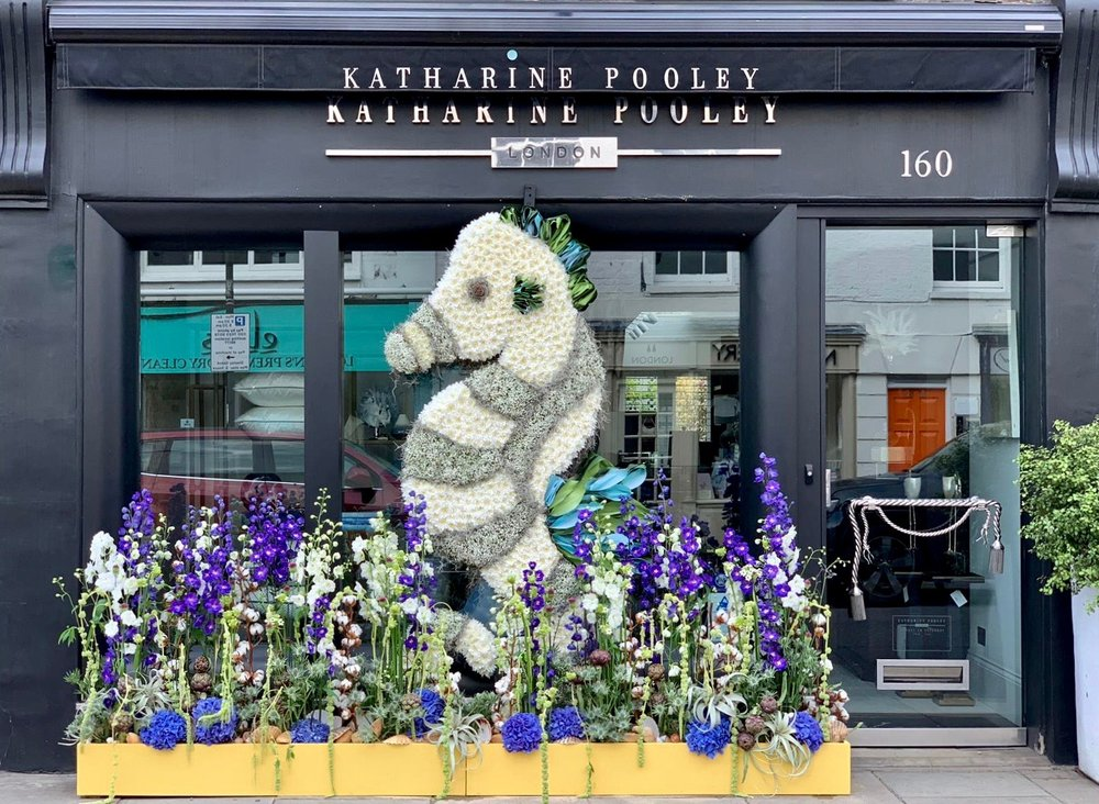 """Chelsea In Bloom themed """"Under The Sea"""" design for Katharine Pooley"""