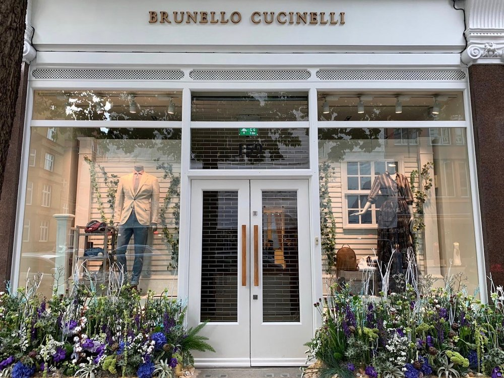"""Chelsea In Bloom """"Under The Sea"""" themed design for Brunello Cucinelli"""