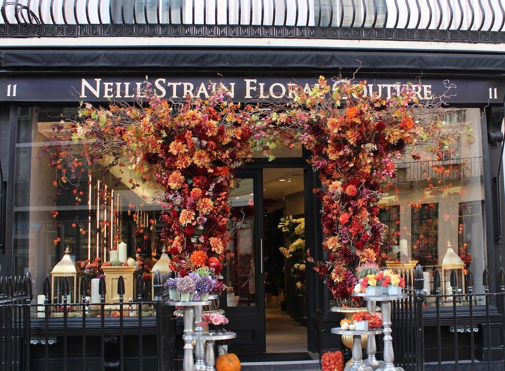 """The """"new"""" Neill Strain Floral Couture boutique in Belgravia"""