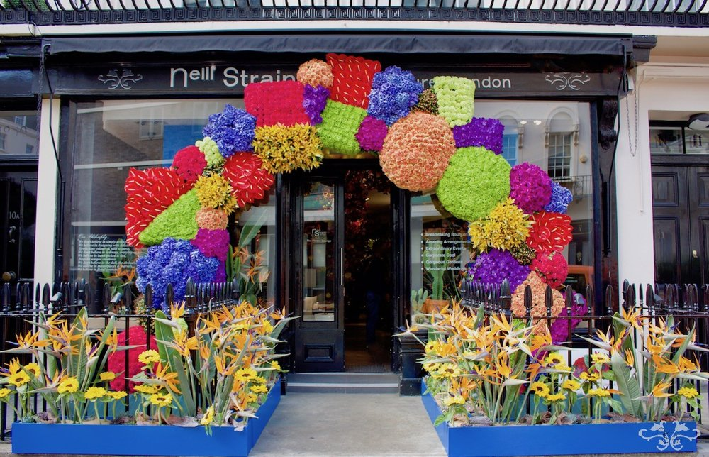 """""""Frida Inspires Belgravia"""" display for Belgravia in Bloom by Neill Strain Floral Couture"""
