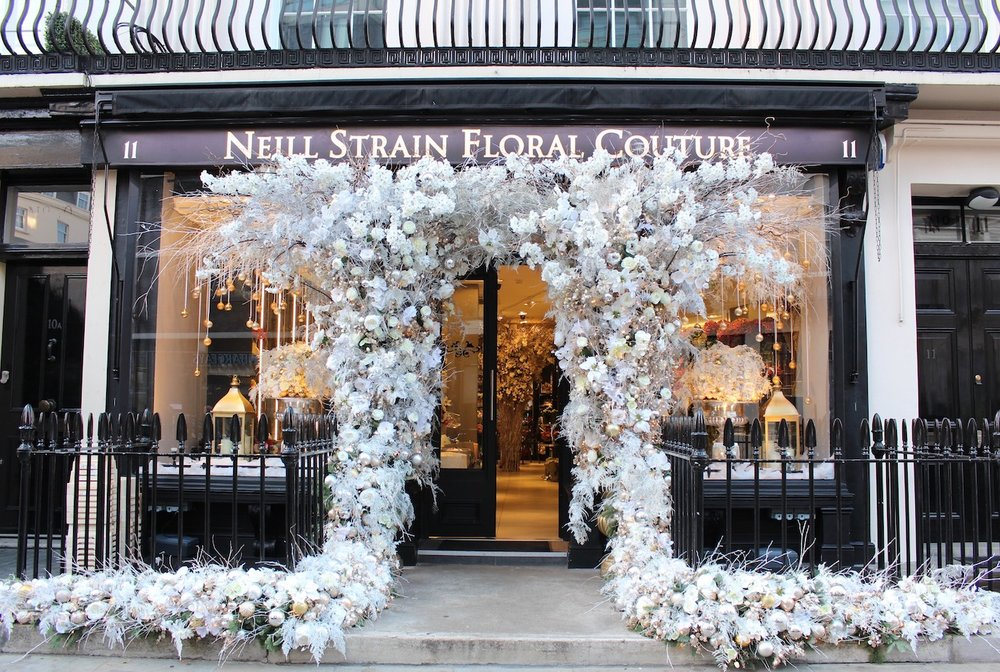 Christmas at the Belgravia boutique Neill Strain Floral Couture