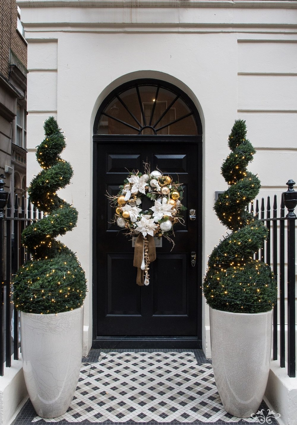 Neill Strain Floral Couture luxury Christmas door wreath