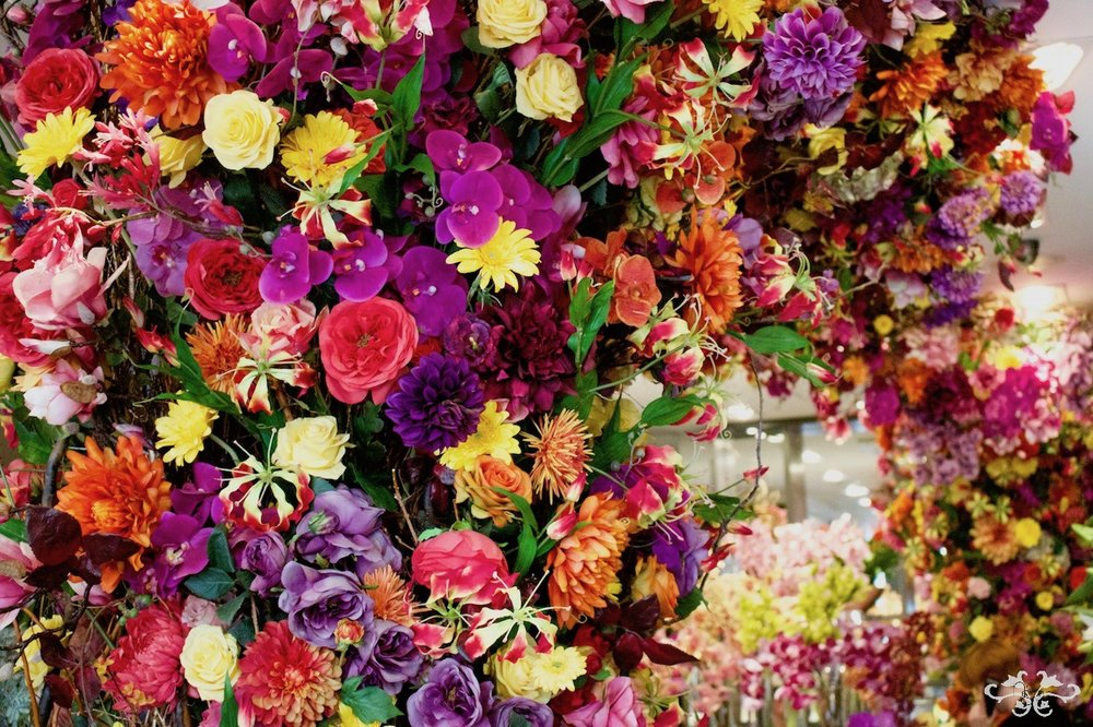 Mexican style flowers at Neill Strain Belgravia