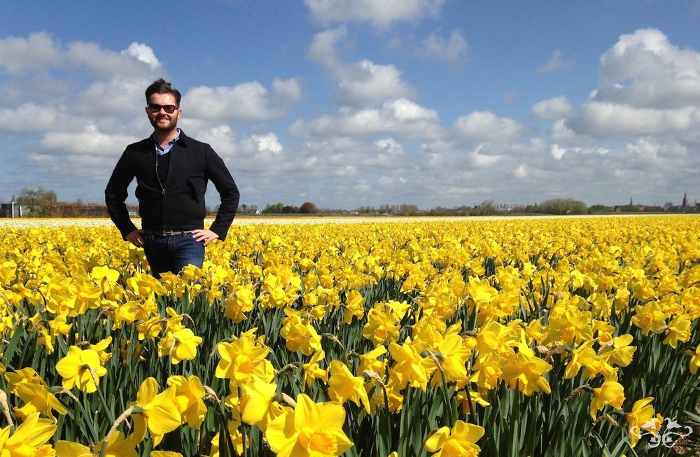Visiting the spectacular bulb fields in Holland while sourcing flowers for the Easter Collection