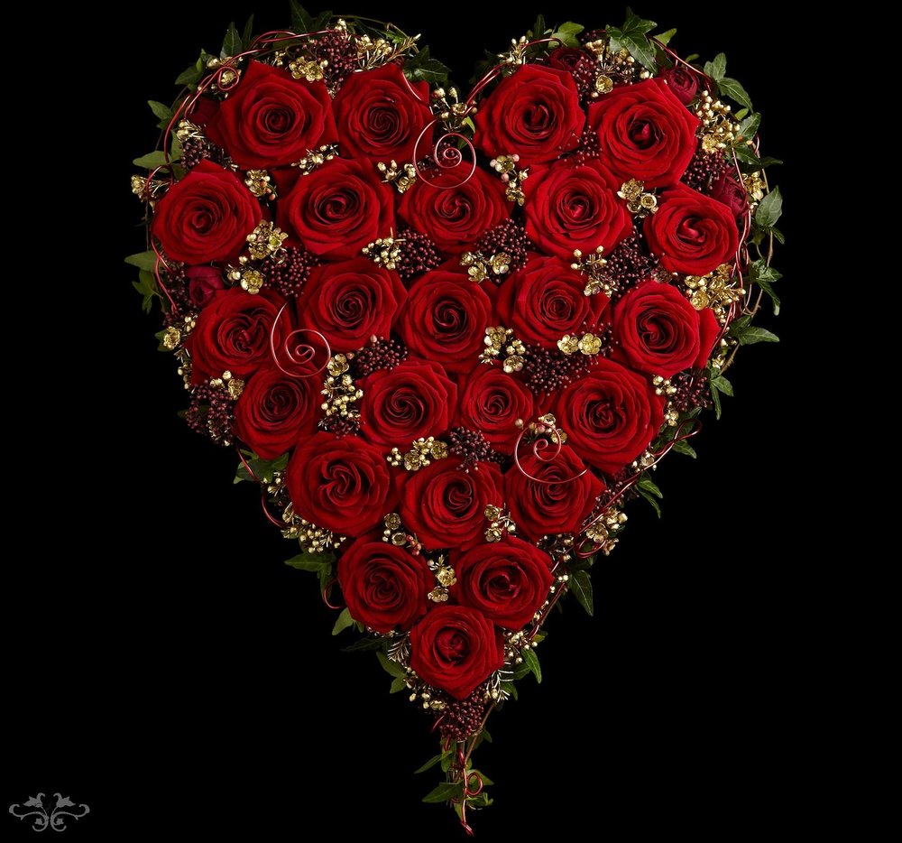 Valentine's Heart by Neill Strain Floral Couture London