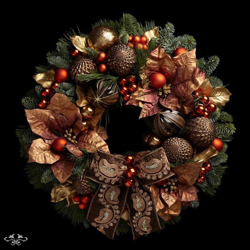 """Neill Strain Floral Couture Super Deluxe wreath  """"Chocolate Box"""""""