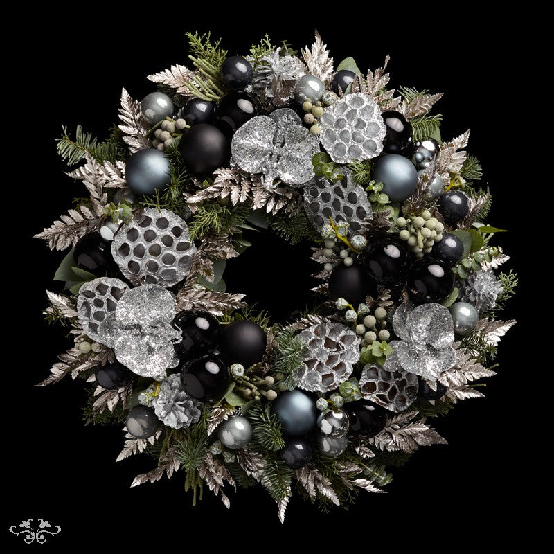 """Neill Strain Floral Couture Super Deluxe wreath  """"Silent Night"""""""