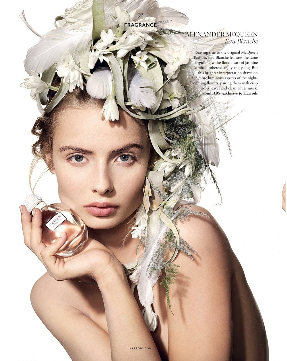 Floral headdress by Neill Strain Floral Couture