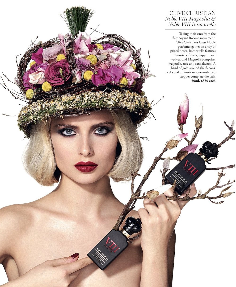 Fragrances styled by Neill Strain florals for Harrods Magazine