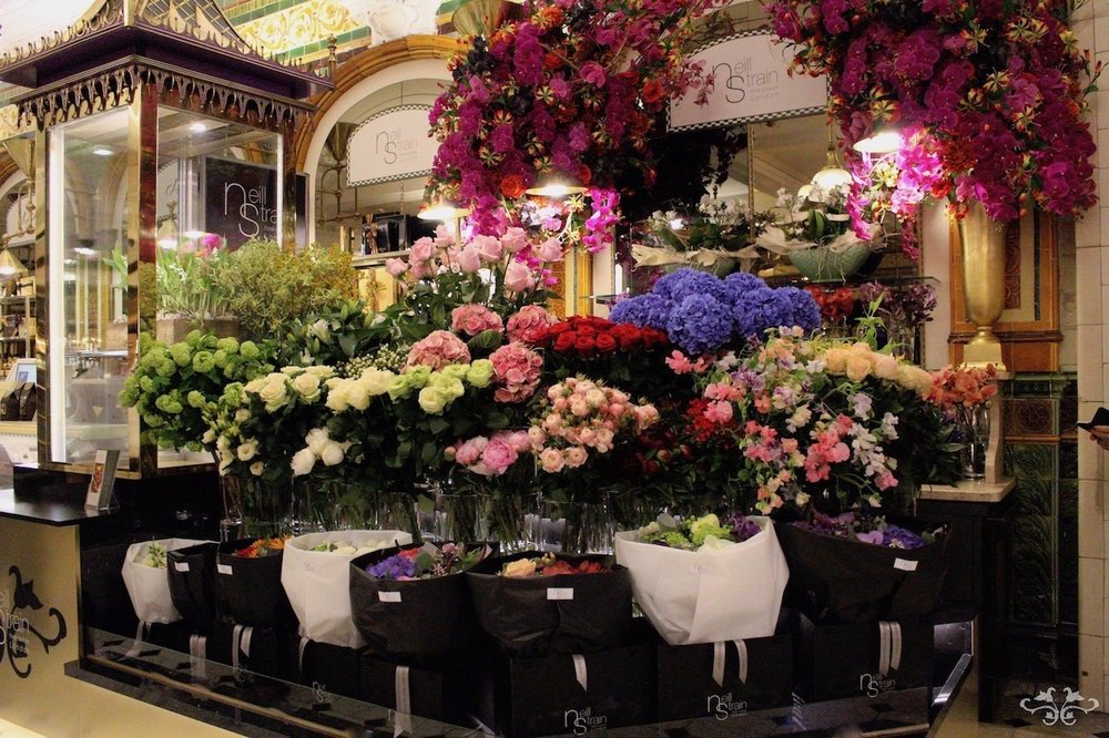 The new Neill Strain Floral Couture concession in the Harrods Food Halls