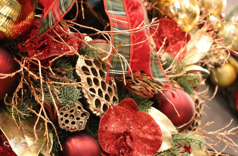 Exquisite ribbons add remarkable texture in Neill's Christmas designs