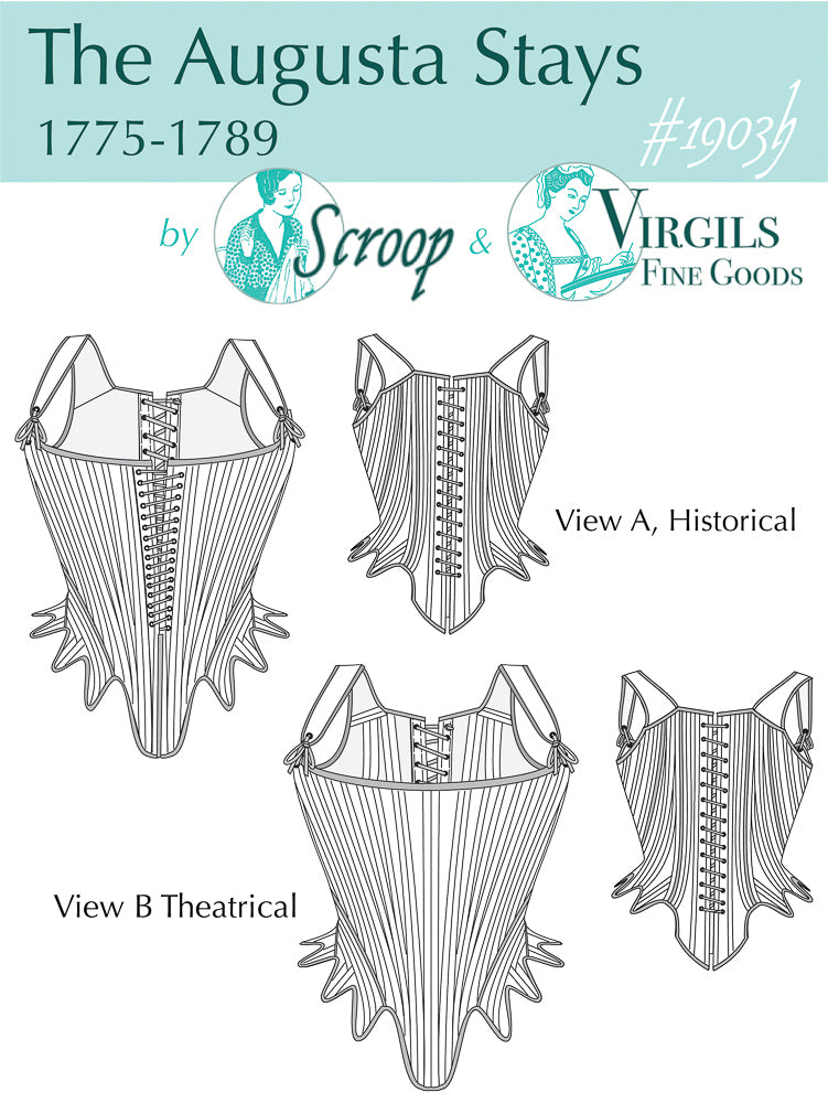 Augusta Stays Paper Pattern  ||  Scroop Patterns & Virgil's Fine Goods