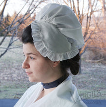 "Load image into Gallery viewer, Dorothy 1770-1780s Cotton ""Dormeuse"" Cap Kit"