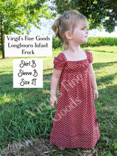 Load image into Gallery viewer, 50% off SUPERSALE Size NB-2T  ||   Longbourn Frock #R100 Pattern