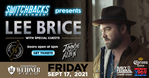 Lee Brice with Special Guests Gabby Barrett and Jimmie Allen at Weidner Field
