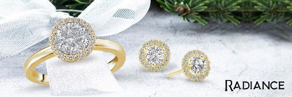 Radiance - Fashion and bridal diamond in 14kt with composite centers