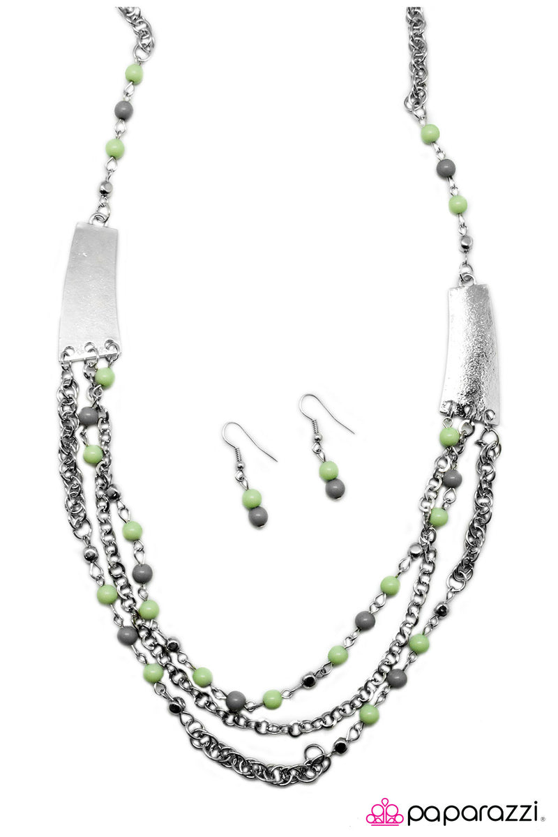Vivacious Vibes - Green Necklace - Paparazzi Accessories