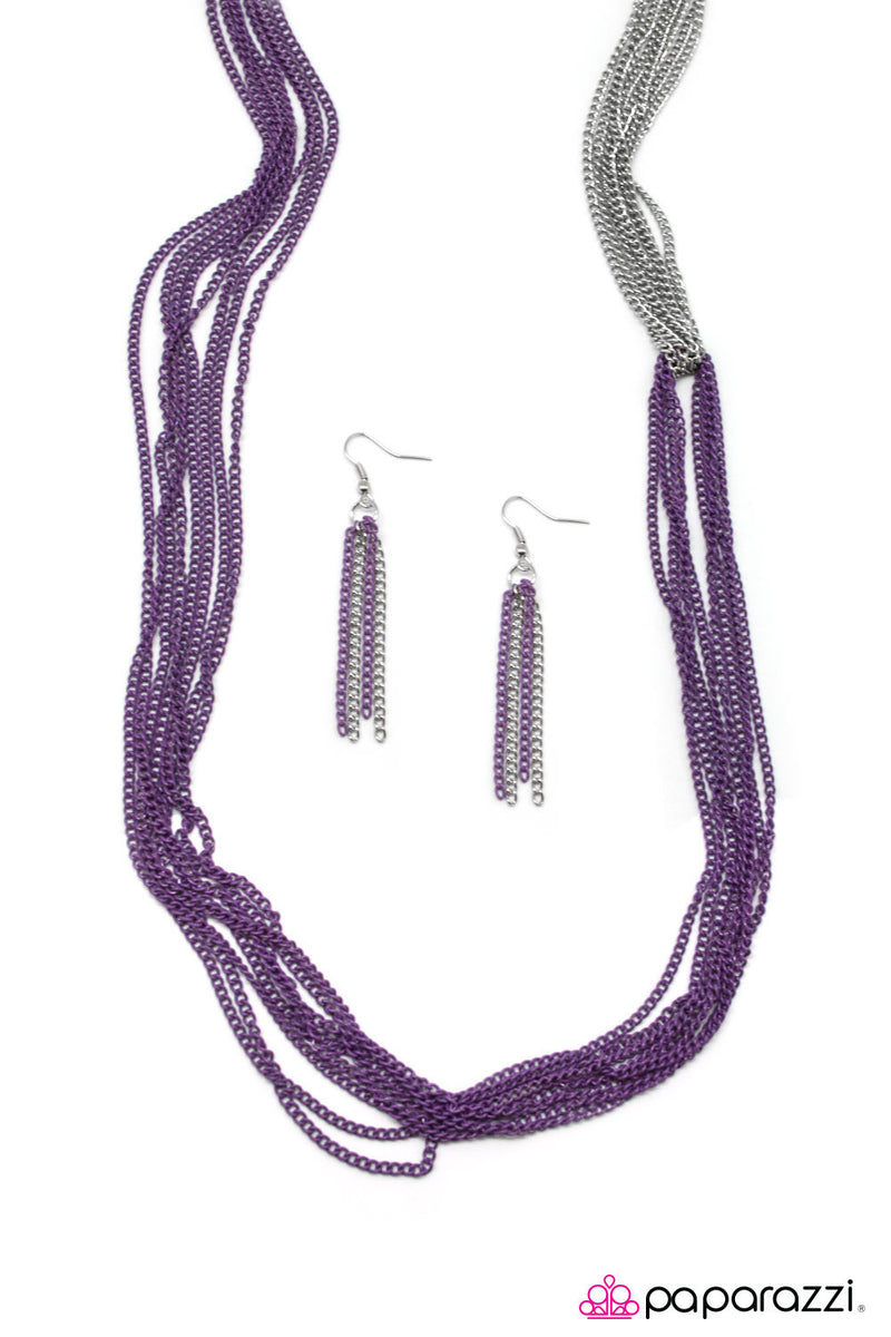 No CHAIN, No Gain - Purple Necklace - Paparazzi Accessories