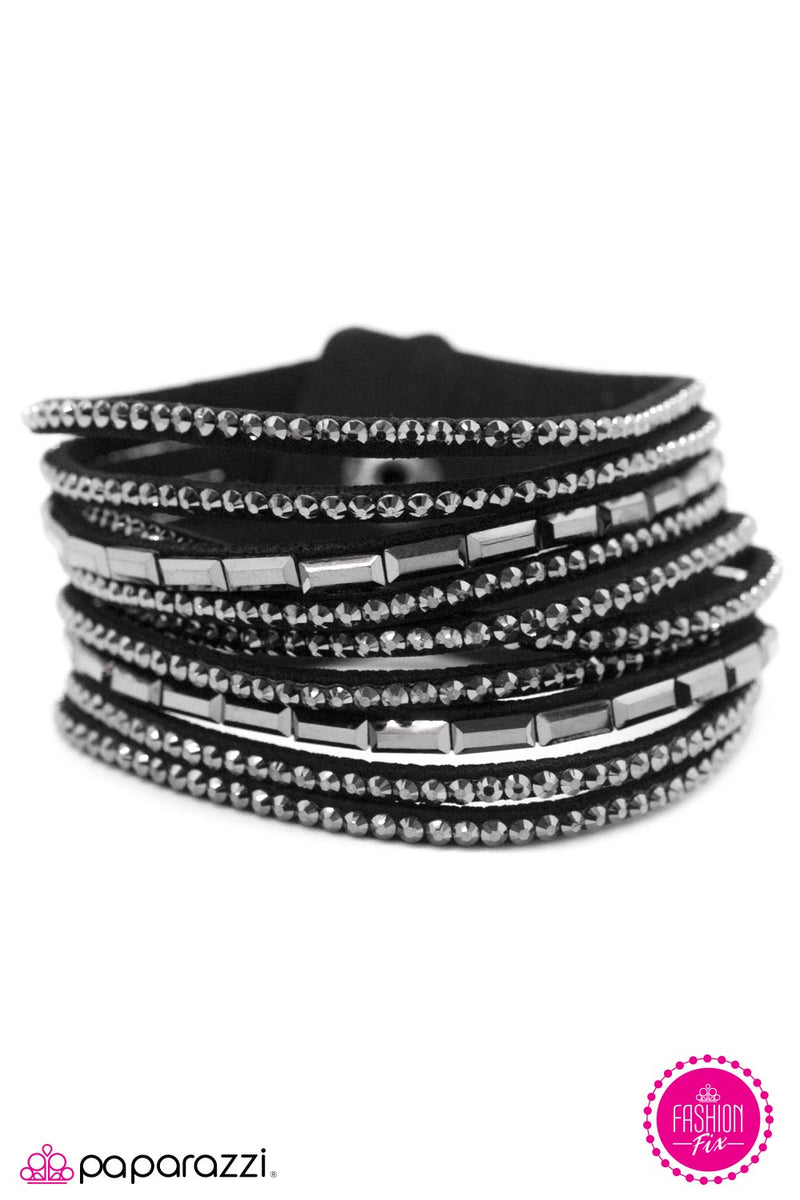 Gimme Some Sugar - Black Bracelet - Paparazzi Accessories