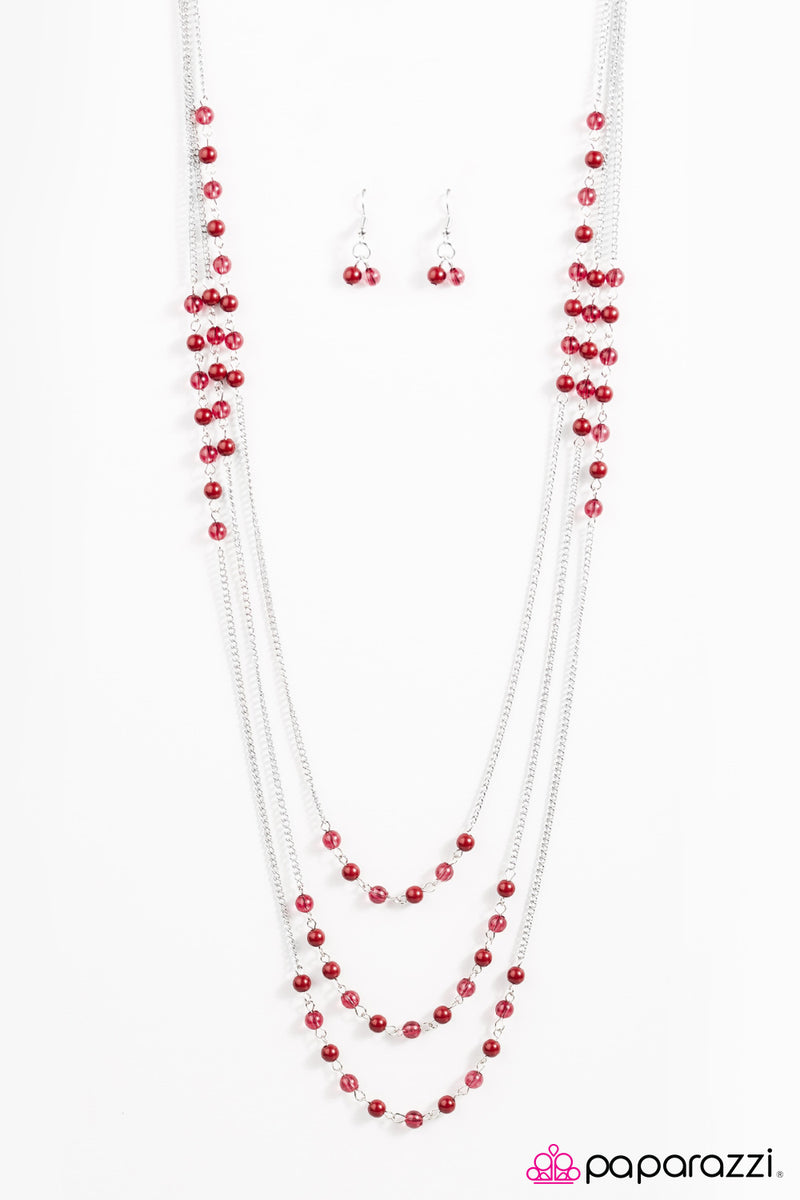 Color My World - Red Necklace - Paparazzi Accessories