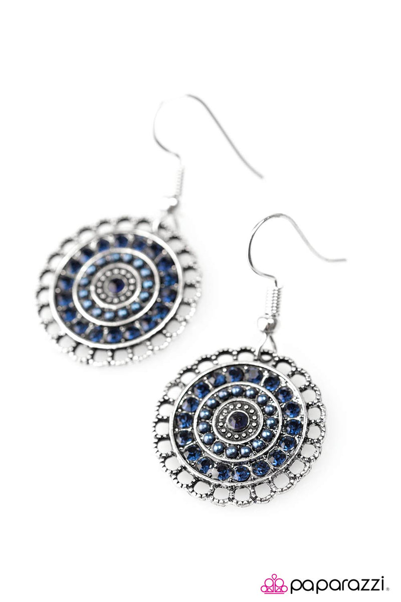 Lights Of Paris Earrings - Paparazzi Accessories
