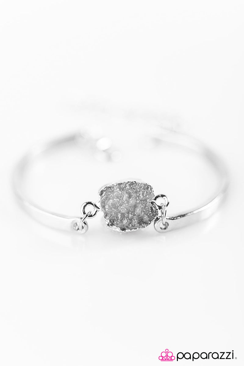 What A Druzy! - Silver Bracelet - Paparazzi Accessories