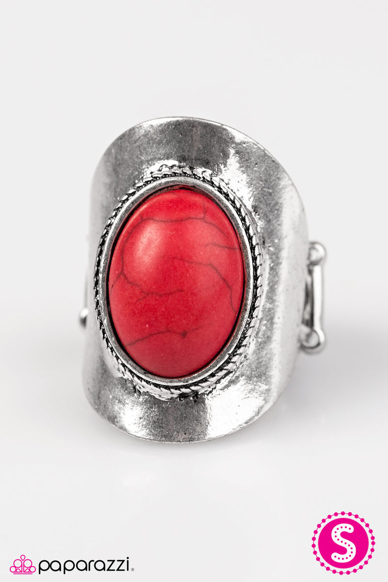 River Stone Radiance - Red Ring - Paparazzi Accessories