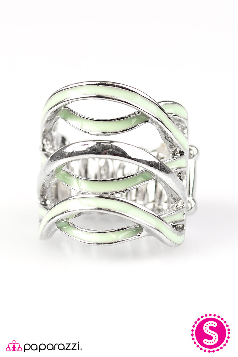 Jet Stream - Green Ring - Paparazzi Accessories