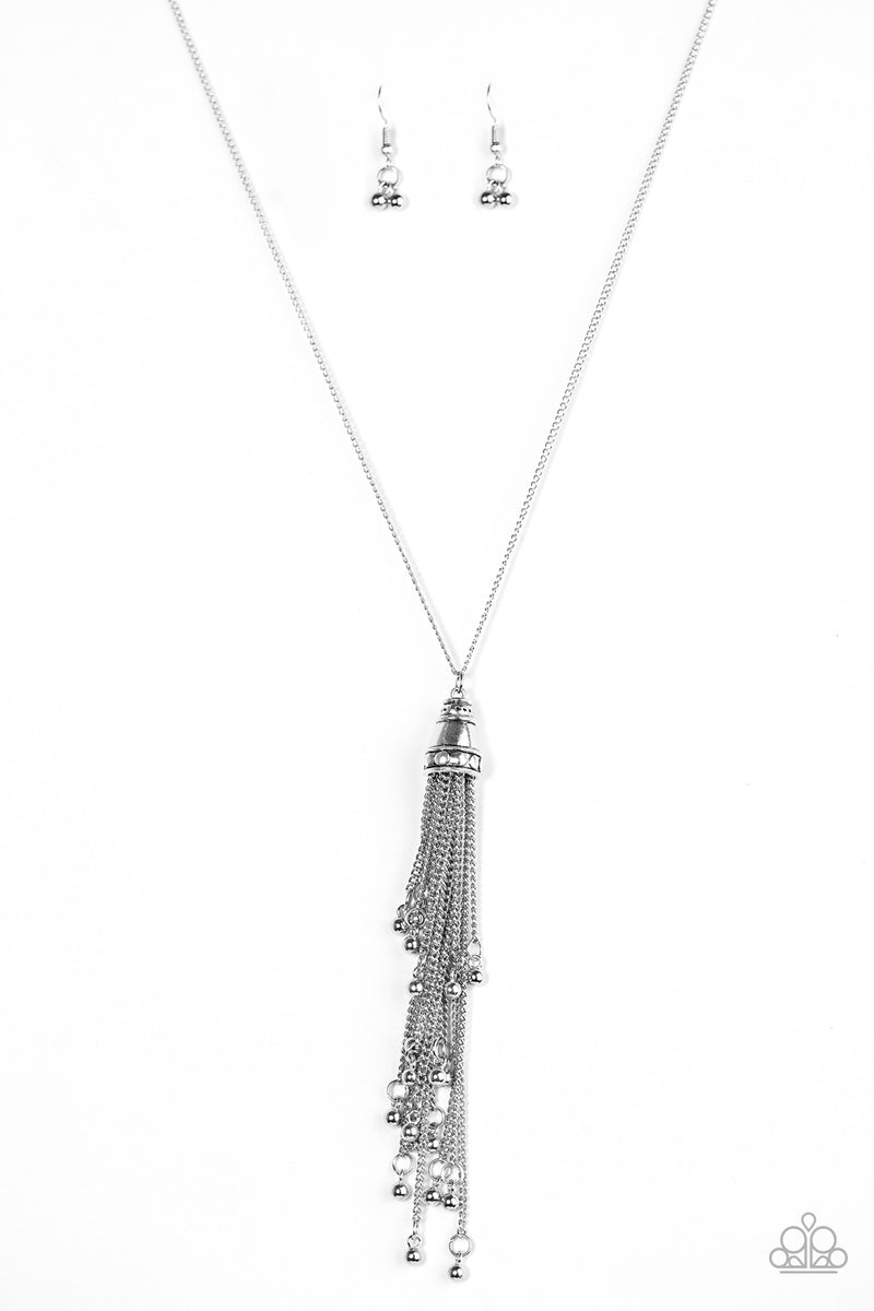 five-dollar-jewelry-talk-about-tassel-silver-necklace-paparazzi-accessories
