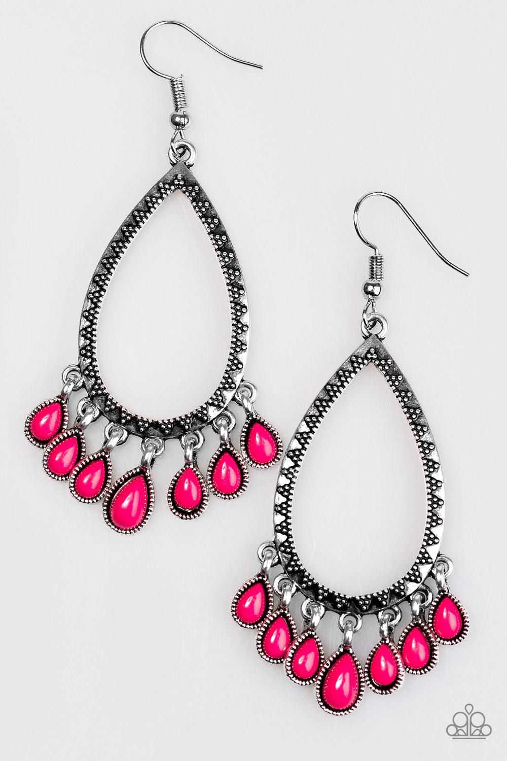 five-dollar-jewelry-radiant-bursts-pink-earrings-paparazzi-accessories