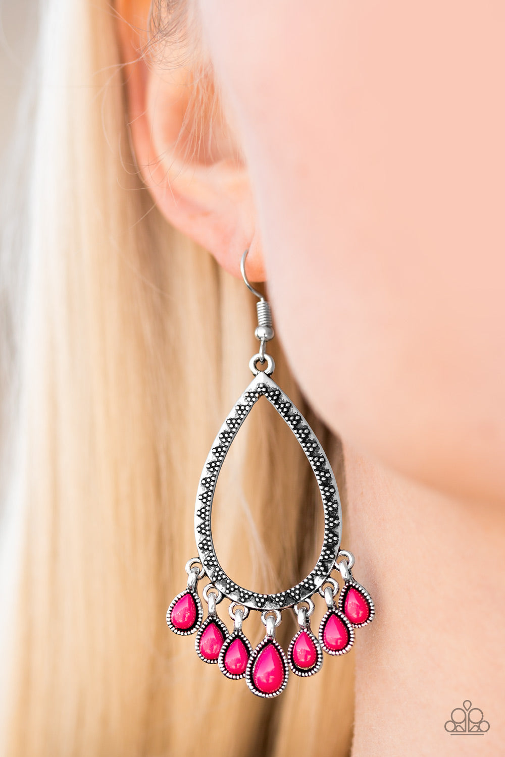 Radiant Bursts - Pink Earrings - Paparazzi Accessories