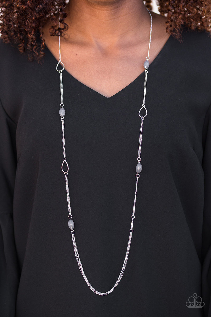 Colorfully Casual - Silver Necklace - Paparazzi Accessories