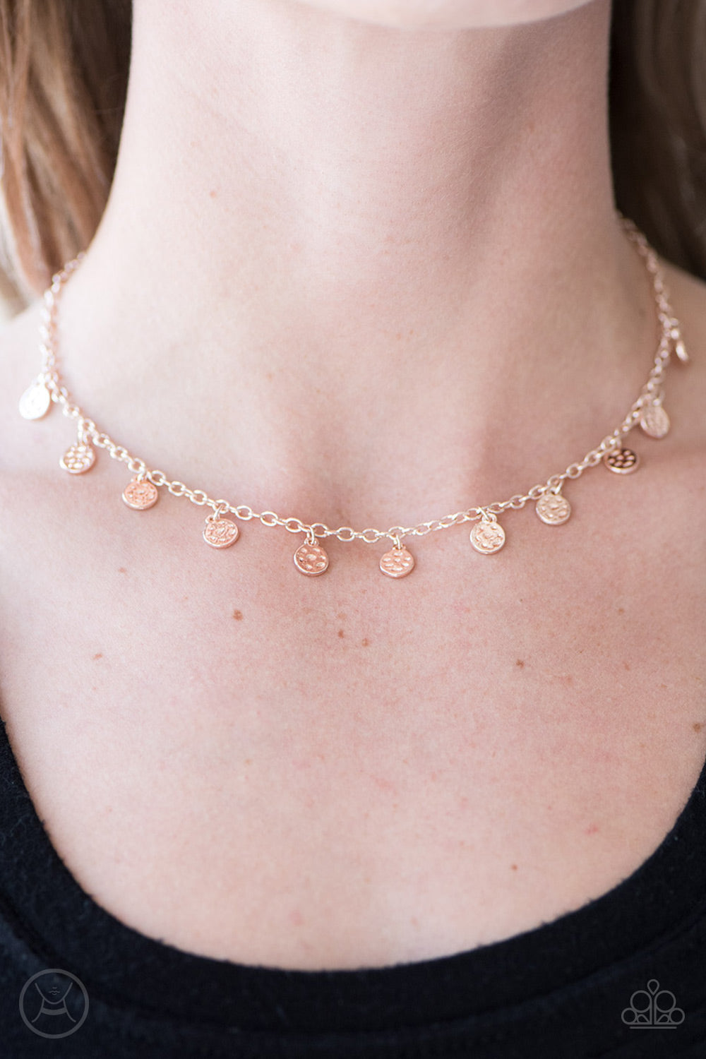 The FRINGE Zone - Rose Gold Necklace - Paparazzi Accessories