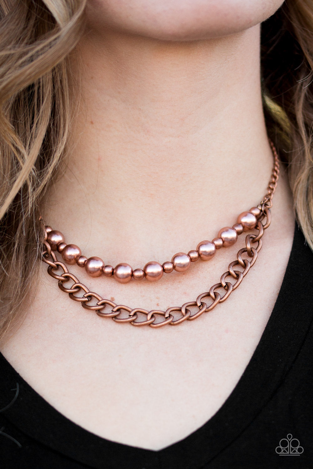 Glam and Grind - Copper Necklace - Paparazzi Accessories