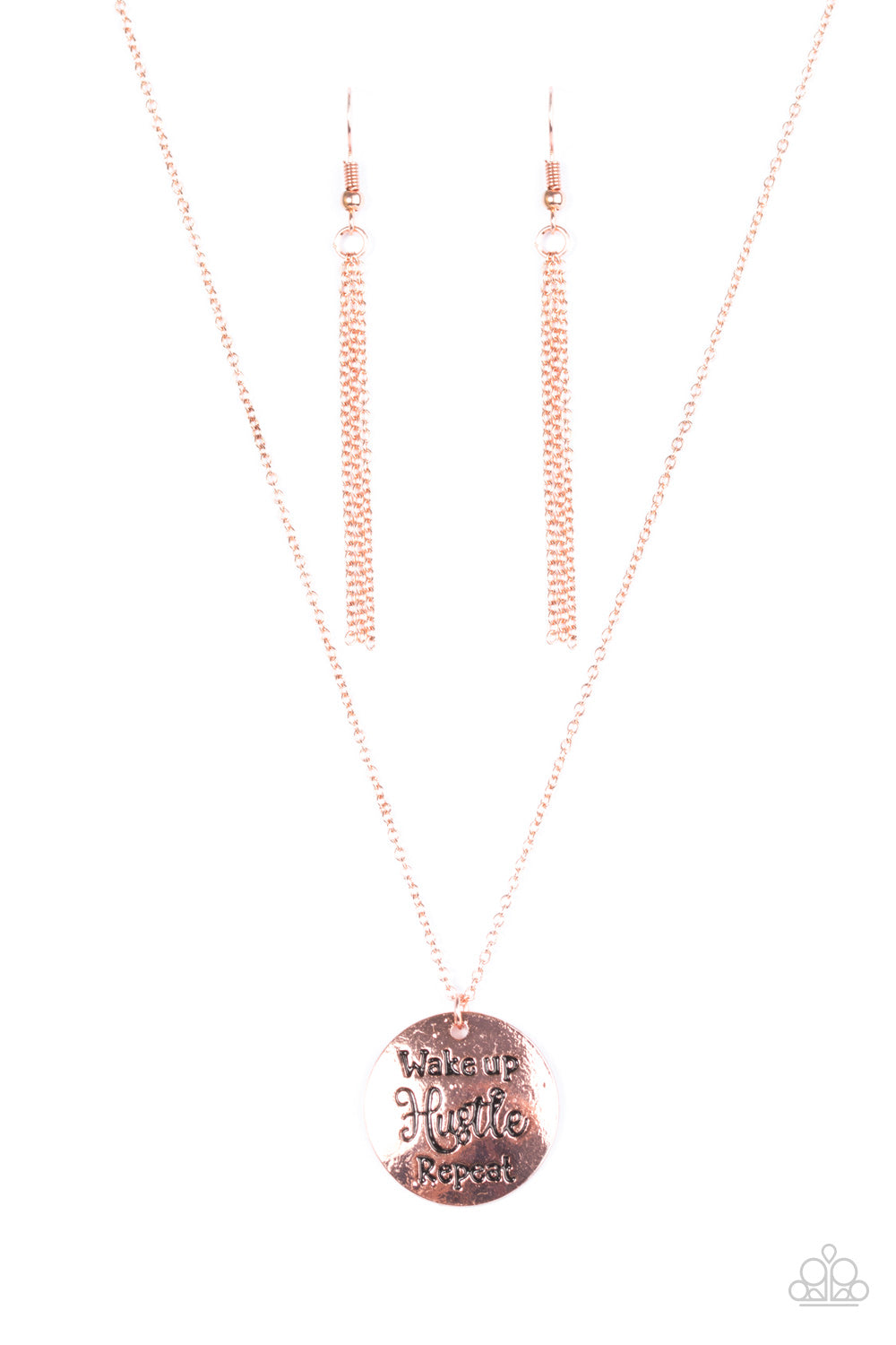 five-dollar-jewelry-hustle-on-repeat-copper-necklace-paparazzi-accessories
