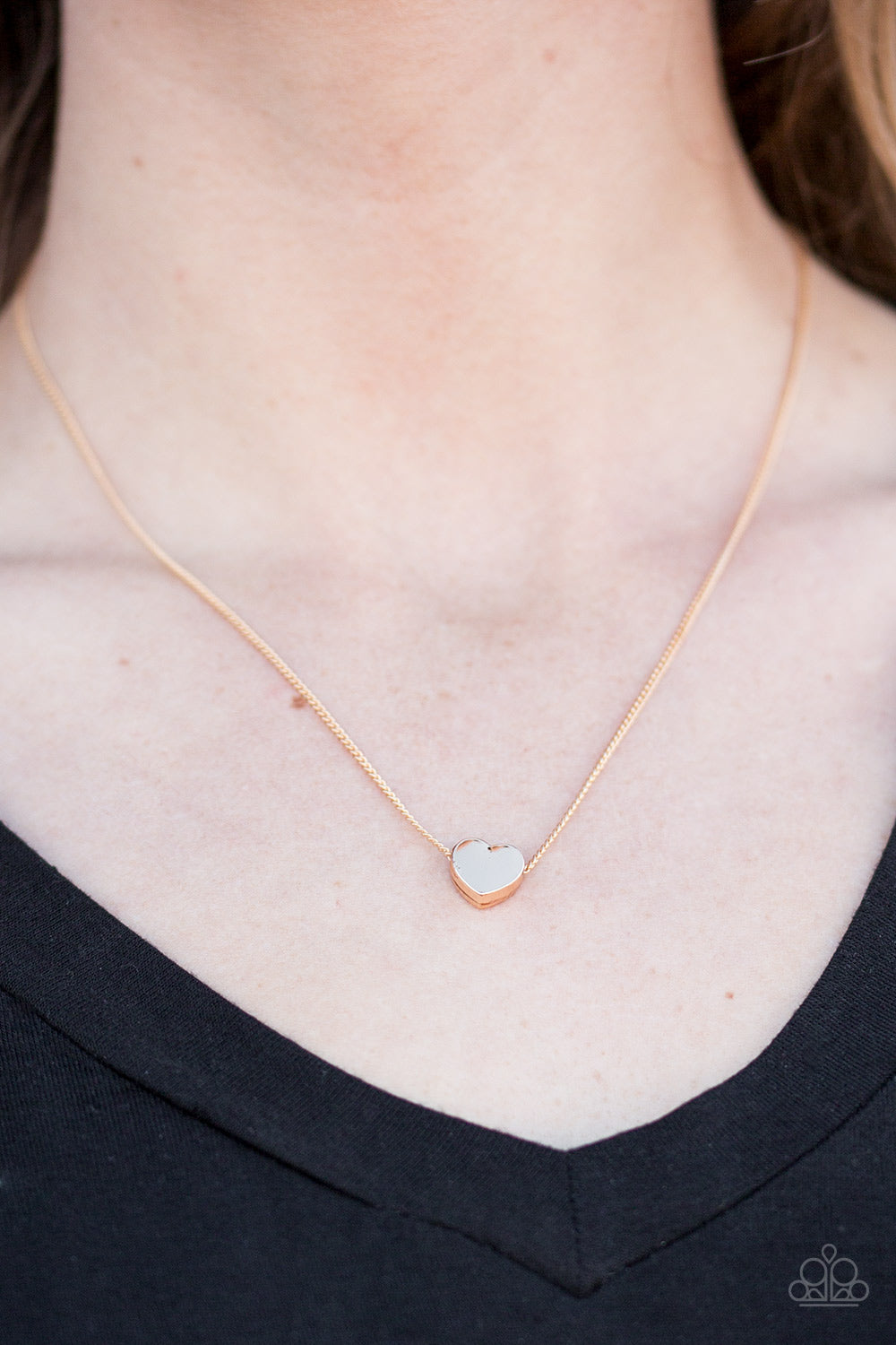 A Simple Heart - Gold Necklace - Paparazzi Accessories