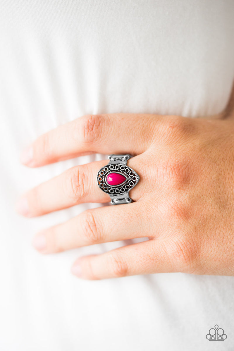 HUE Me In - Pink Ring - Paparazzi Accessories
