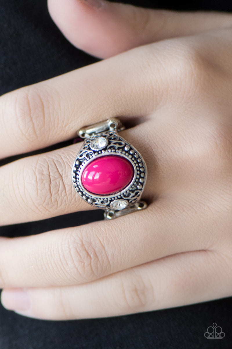 Beautifully Bali - Pink Ring - Paparazzi Accessories