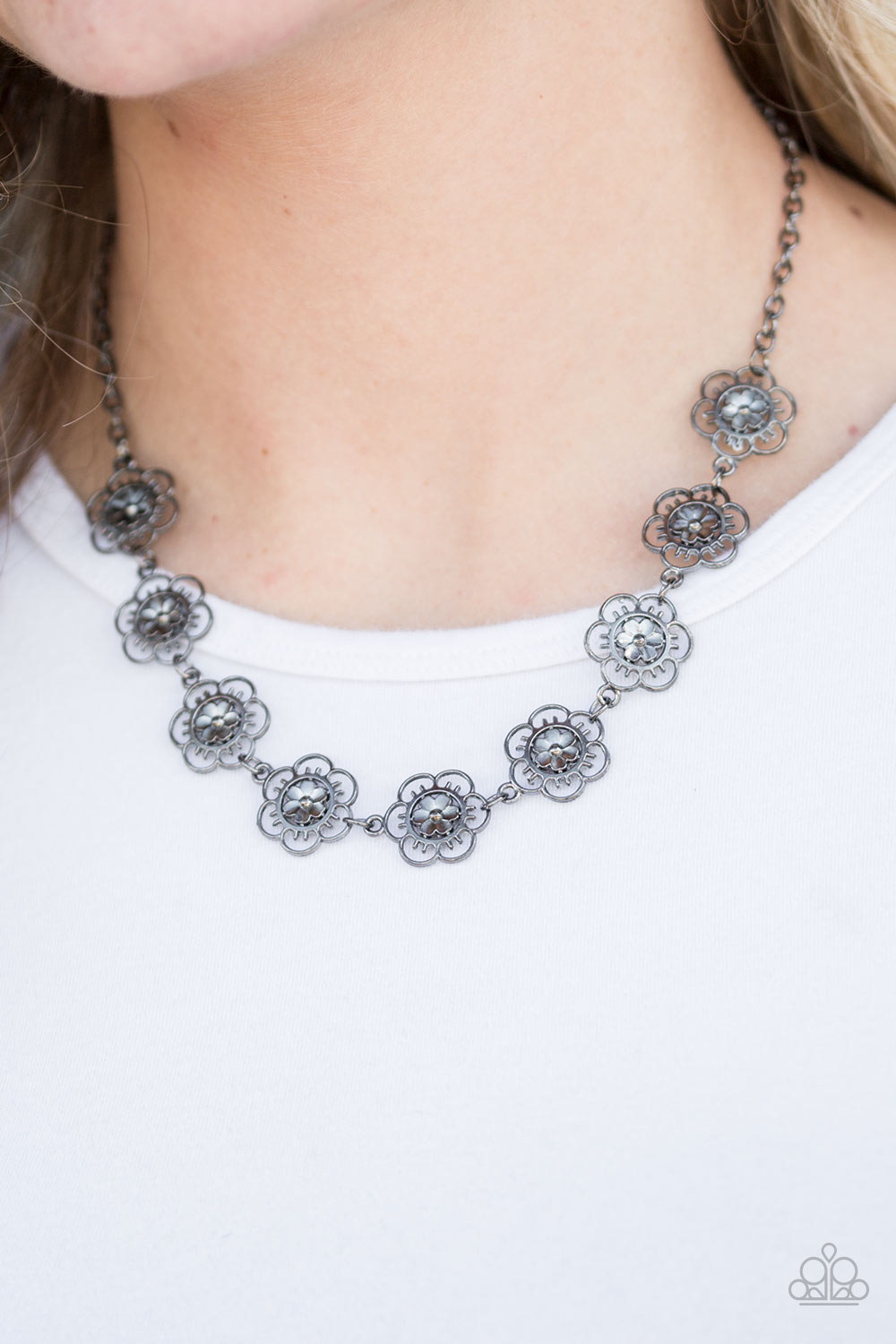 BLOOM Or Bust - Black Necklace - Paparazzi Accessories