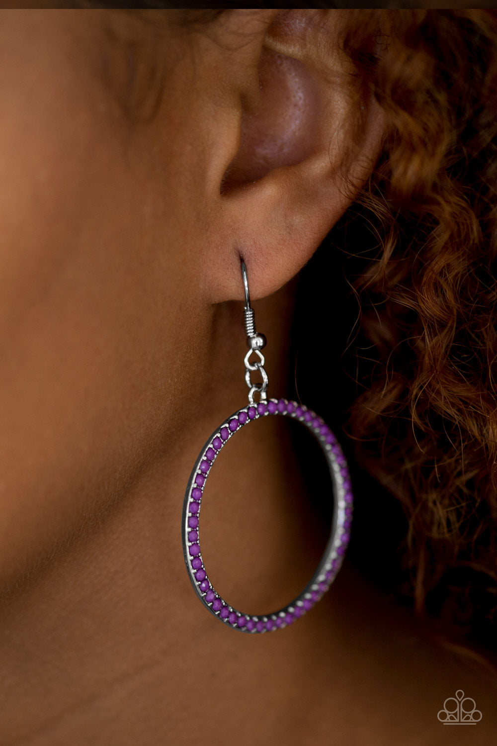 Spring Party- Purple Earrings - Paparazzi Accessories