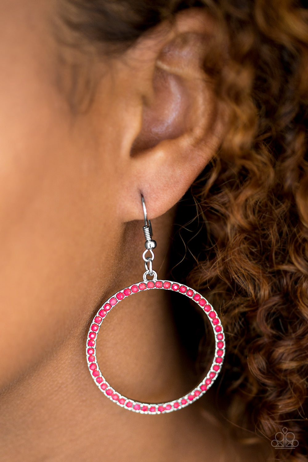 Spring Party- Pink Earrings - Paparazzi Accessories